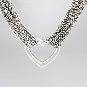 Kay | Sterling Silver Multistrand Heart Necklace